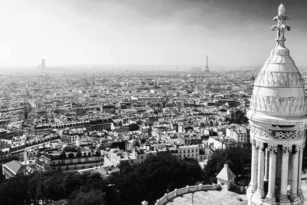 View-from-Basilica-du-Sacre-Coeur-Black-And-White