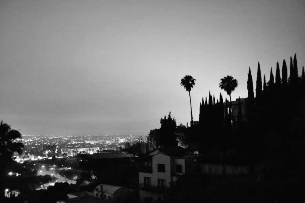 Hollywood-Hills-Black and White