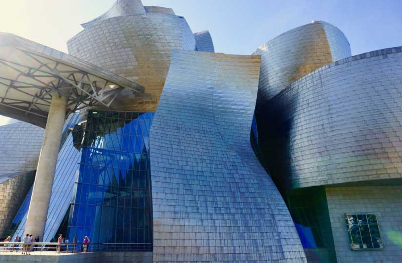 Mid Shot of Guggenheim Bilbao, Spain