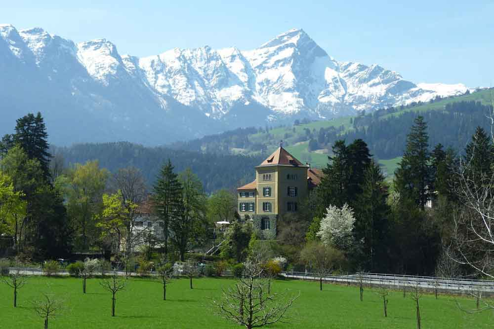 schauenstein castle - swiss alps
