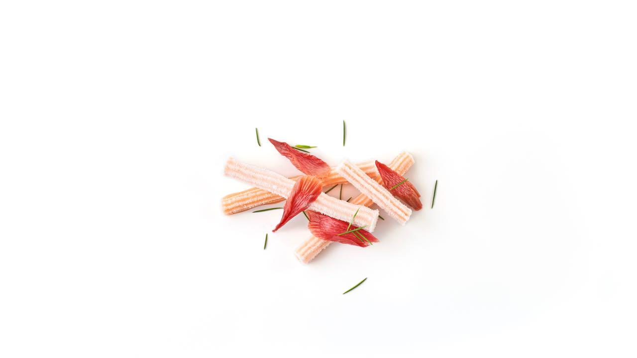 Ice cold fermented passion fruit, rhubarb and Geraldton wax - Lûmé - Melbourne - Australia